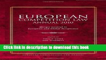 [PDF]  European Competition Law Annual 2010: Merger Control in European and Global Perspective