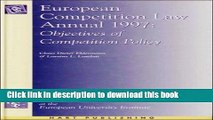 [PDF]  European Competition Law Annual: Objectives of Competition Policy  [Download] Online