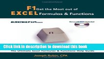 Read F1 Get the Most Out of Excel Formulas   Functions: The Ultimate Excel Formulas   Functions