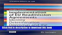 Read Implementation of Eu Readmission Agreements: Identity Determination Dilemmas and the Blurring