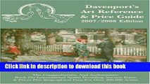Read Book 2007/2008 Davenport s Art Reference   Price Guide (Davenport s Art Reference and Price
