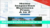 Read Home Inspection Business From A to Z - Expert Real Estate Advice (Real Estate From A to Z -