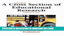Read Book A Cross Section of Educational Research: Journal Articles for Discussion and Evaluation