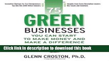Download Books 75 Green Businesses You Can Start to Make Money and Make A Difference E-Book Download