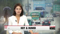 Hot and humid in Korea nationwide, with rain expected Wednesday