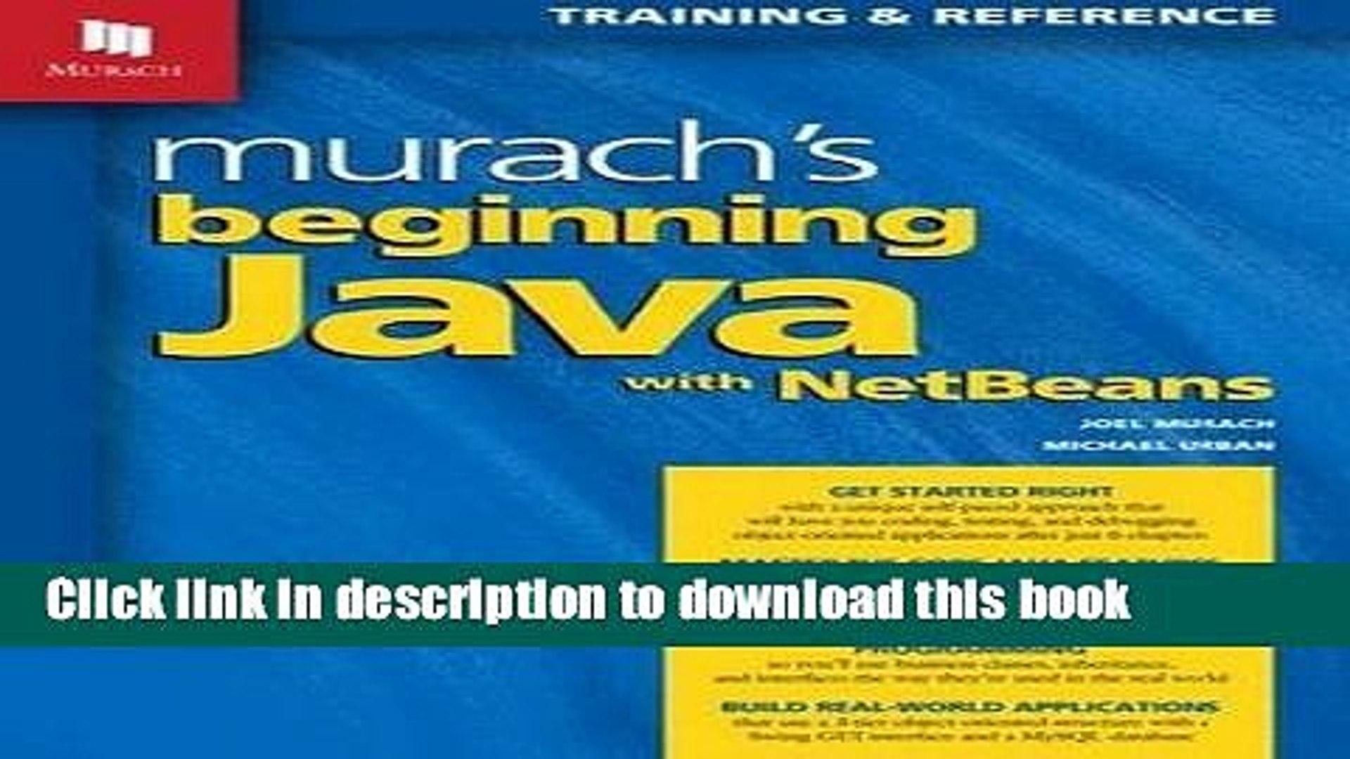 Read Murach s Beginning Java with NetBeans Ebook PDF - video dailymotion