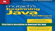 Download] Murach s Beginning Java with NetBeans Hardcover