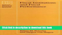 Read Books Fiscal Institutions and Fiscal Performance (National Bureau of Economic Research