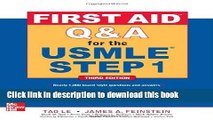 Download Books First Aid Q A for the USMLE Step 1, Third Edition (First Aid Usmle) ebook textbooks