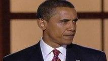 2008: Barack Obama accepts the Democratic presidential nomination