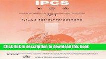Read 1 1 2 2-Tetrachloroethane Ebook Free
