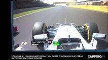 Formule 1 : Lewis Hamilton fait un doigt d'honneur à Esteban Gutierrez en pleine course