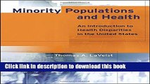 [PDF] Minority Populations and Health: An Introduction to Health Disparities in the United States
