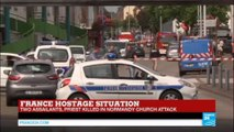 France hostage situation: two assailants killed, priest decapitated in Normandy church attack