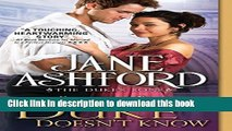 Download Books What the Duke Doesn t Know (The Duke s Sons) E-Book Download