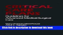 Download Critical Care Plans Ebook Free