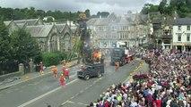 Giant robot walks through Cornwall