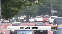 Another hot and humid afternoon for Korea with Monsoon expected to be back on tomorrow