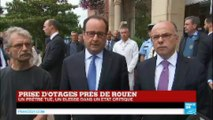 REPLAY - Intervention de François Hollande après la tuerie de l'église de Saint-Étienne-du-Rouvray :