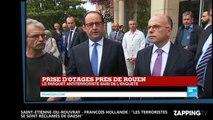 """Saint-Etienne-du-Rouvray - François Hollande : """"Les deux terroristes se sont réclamés de Daesh"""""""