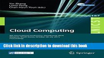 Read Cloud Computing: 6th International Conference, CloudComp 2015, Daejeon, South Korea, October