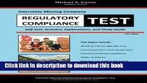 [PDF]  Interstate Moving Company Regulatory Compliance Test  [Read] Online