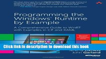 Read Programming the Windows Runtime by Example: A Comprehensive Guide to WinRT with Examples in