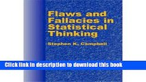 Read [ [ [ Flaws and Fallacies in Statistical Thinking[ FLAWS AND FALLACIES IN STATISTICAL