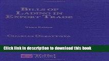 [PDF]  Bills of Lading in Export Trade  [Read] Full Ebook