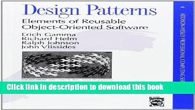Download Design Patterns Elements Of Reusable Object Oriented Software Ebook Free Video Dailymotion