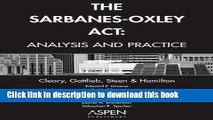 [PDF]  The Sarbanes-Oxley Act: Analysis and Practice  [Download] Online