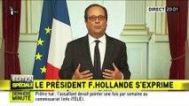 Discours de François Hollande après l'attaque de l'église de Saint-Étienne-du-Rouvray