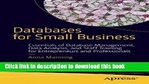 Download Books Databases for Small Business: Essentials of Database Management, Data Analysis, and