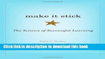 Read Books Make It Stick: The Science of Successful Learning E-Book Free