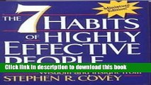 [PDF] 7 Habits of Highly Effective People (89) by Covey, Stephen R [Hardcover (2000)] Read Online