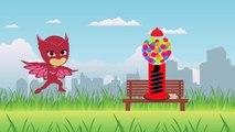 Masha And The Bear with PJ Masks Catboy Gekko Owlette Gumball parody