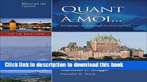 Read Bundle: Quant a moi, 5th + À l ecran: Short French Films and Activities + Workbook with Lab