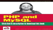 Download PHP and MySQL: Create - Modify - Reuse Ebook Free