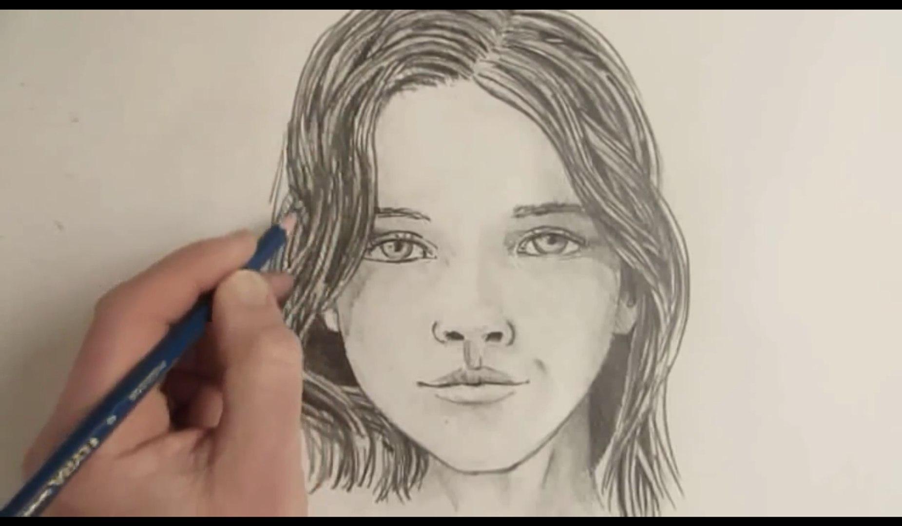 Comment Dessiner Un Visage Feminin Etape Par Etape Video Dailymotion