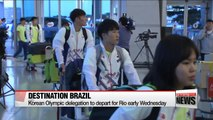 South Korea's Rio Olympic delegates depart early Wednesday