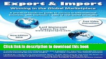 Read Export   Import - Winning in the Global Marketplace: A Practical Hands-On Guide to Success in