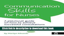 [PDF]  Communication Skills for Nurses  [Read] Online