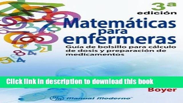 [PDF]  Matema�ticas para enfermeras  [Read] Online