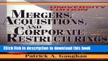 Read Mergers, Acquisitions, and Corporate Restructurings (Wiley Mergers and Acquisitions Library)