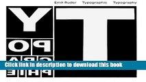 Download Typographie: A Manual of Design  PDF Online
