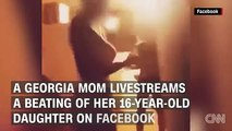 Mom beats hell out of 3 year old daughter after daughter