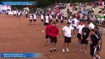 Premier tour de poules, seconde partie M1, Sport Boules, France Quadrettes, l'Arbresle 2016