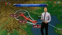 Cập nhật tình hình về cơ bão số 1, dự báo trong 3h tới bão sẽ đi sâu vào trong đất liền theo hướng Tây - Tây Bắc.