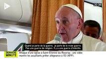 """Saint-Étienne-du-Rouvray : """"Le monde est en guerre"""" mais pas de religions pour le pape François"""