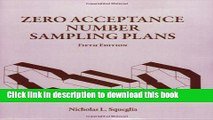 Read Books Zero Acceptance Number Sampling Plans, Fifth Edition PDF Online